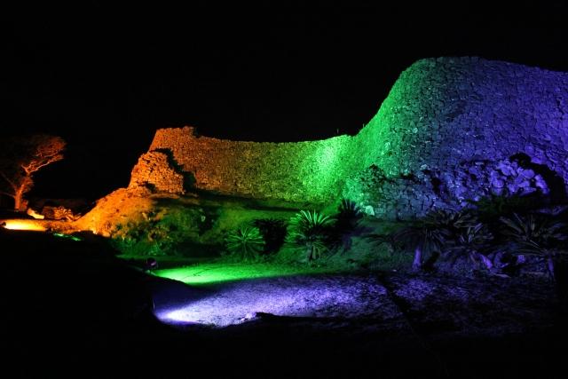 今帰仁城跡のライトアップイメージ